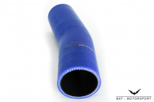 32mm 15° Silikon Schlauchbogen Blau